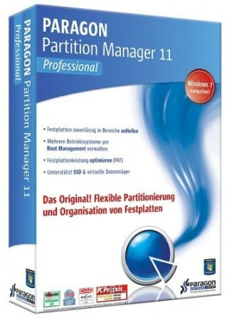 Paragon Partition Manager 11 Professional (x86/x64) rus